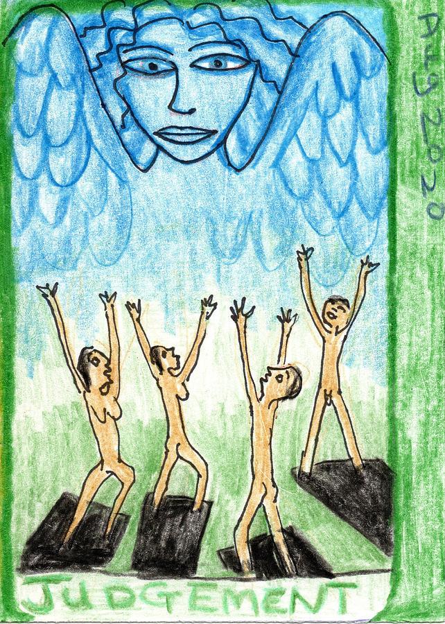 Tarot Drawing - The Glowing Tarot Major Arcana 20 by Sushila Burgess