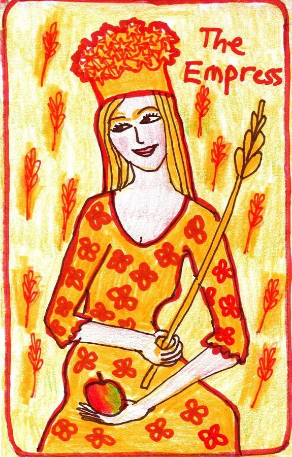 Tarot Drawing - The Glowing Tarot Major Arcana 3 by Sushila Burgess