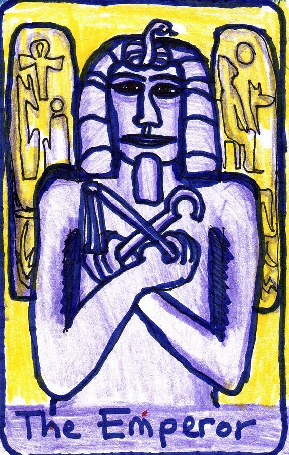 Tarot Drawing - The Glowing Tarot Major Arcana 4 by Sushila Burgess