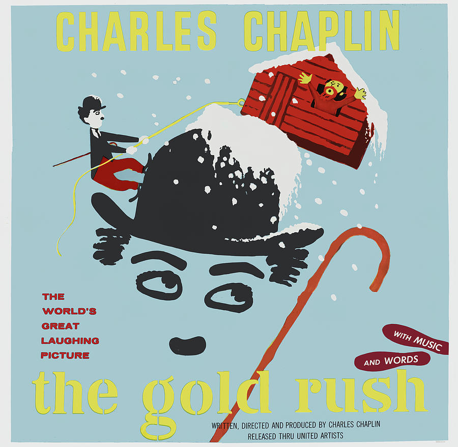 the Gold Rush, With Charlie Chaplin, 1925 Mixed Media