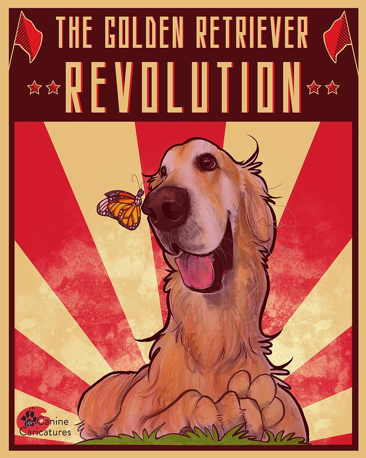 The Golden Retriever Revolution Drawing