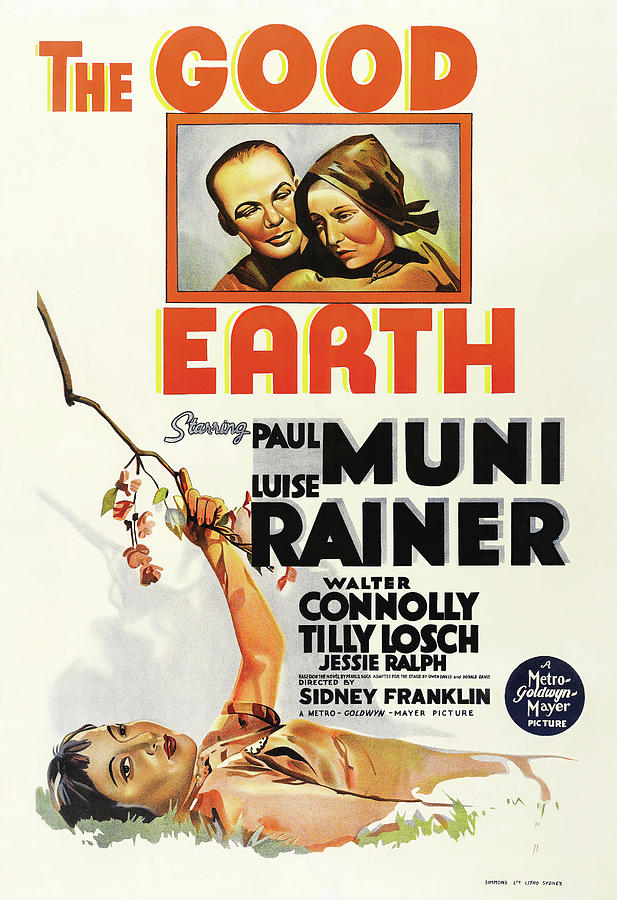 the Good Earth, With Paul Muni And Luise Rainer, 1937 Mixed Media