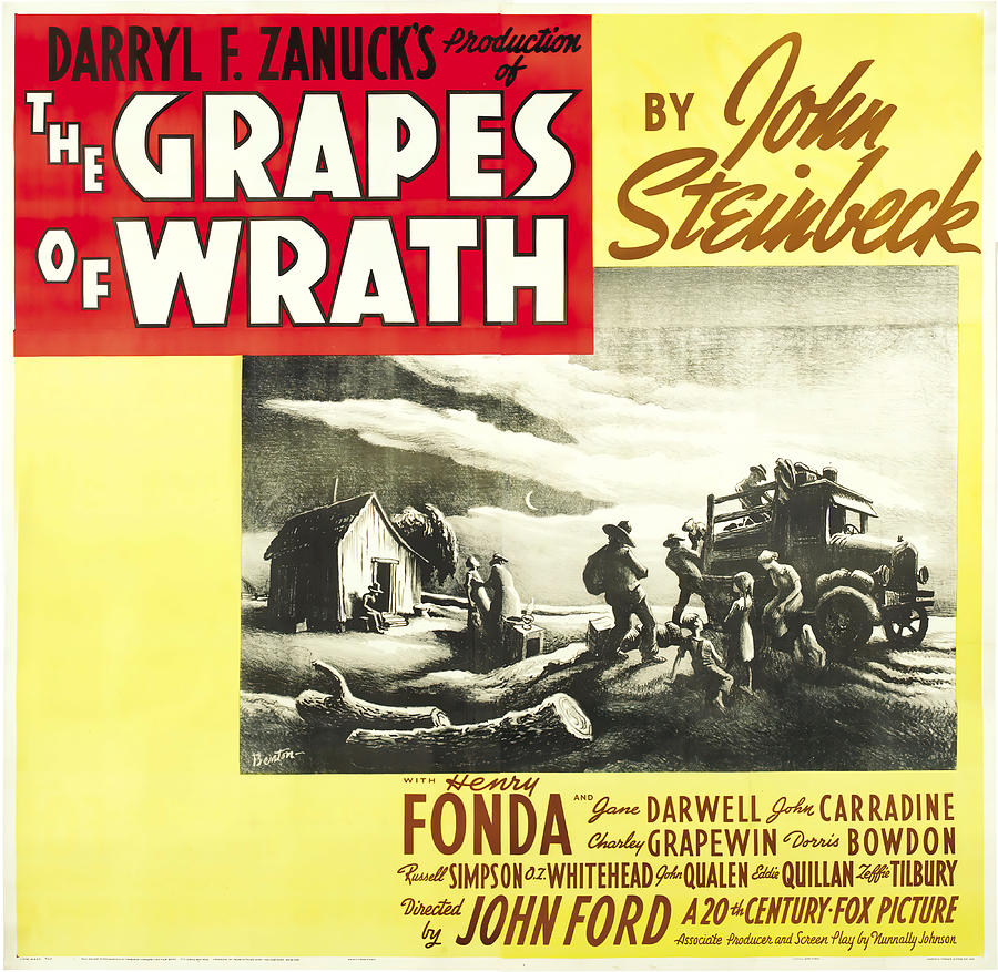 the Grapes Of Wrath, With Henry Fonda, 1940 Mixed Media