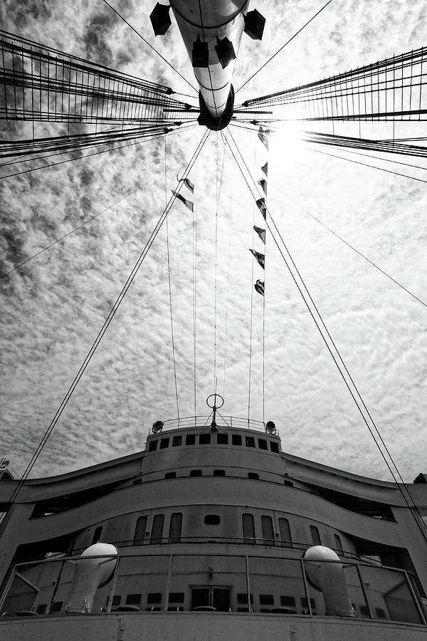 The Gray Ghost -- RMS Queen Mary in Long Beach, California by Darin Volpe
