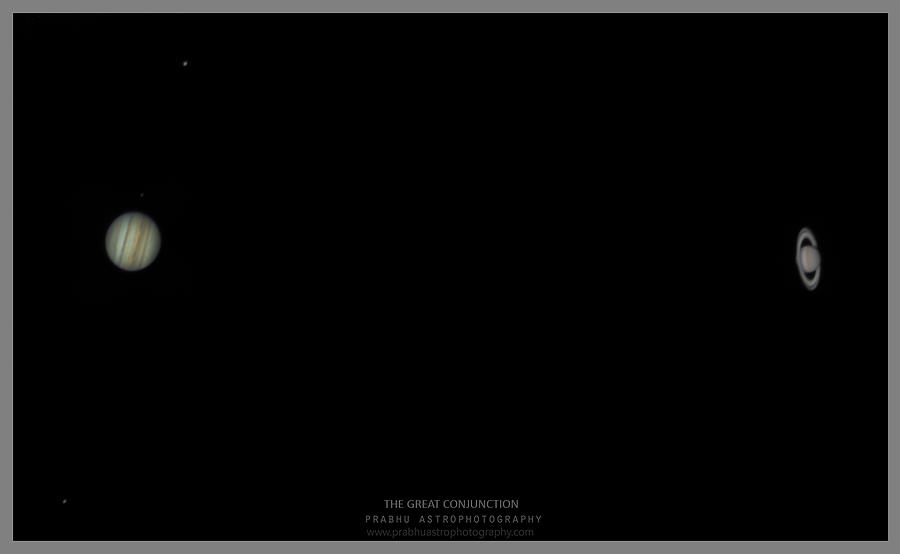 The Great Conjunction of Jupiter and Saturn Photograph by Prabhu Astrophotography