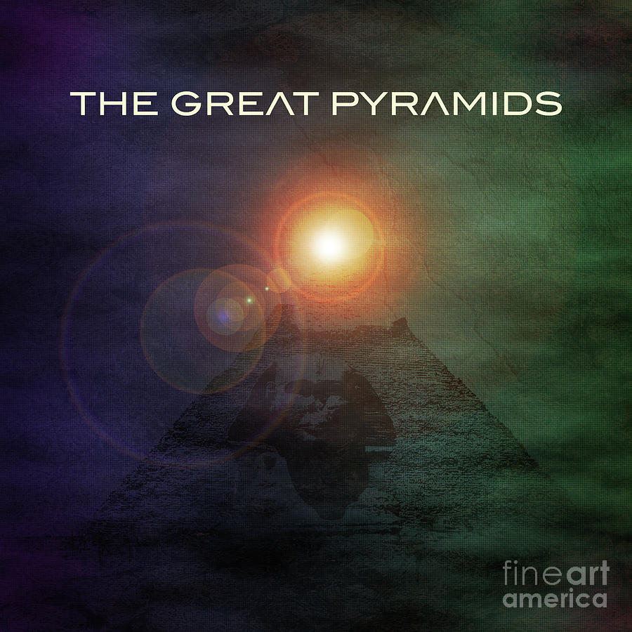 Graphic Design Digital Art - The Great Pyramids by Phil Perkins