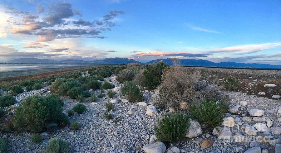 Great Salt Lake Photograph - The Great Salt Lake Utah panorama by Dejan Jovanovic