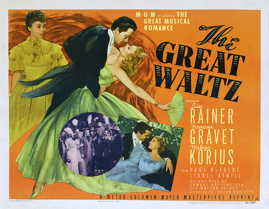 the Great Waltz, With Luise Rainer, 1938 Mixed Media