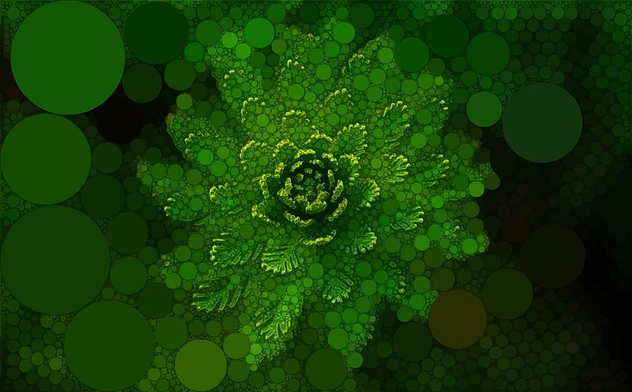 Green Digital Art - The Green Spiral by Dahl Winters