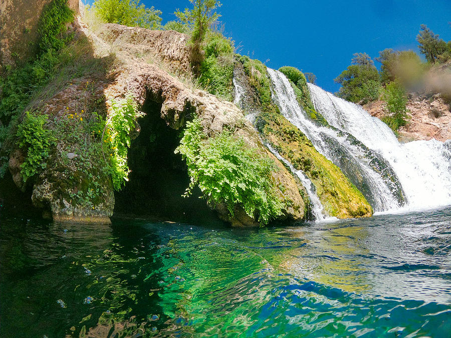 The Grotto At Fossil Creek Falls Photograph