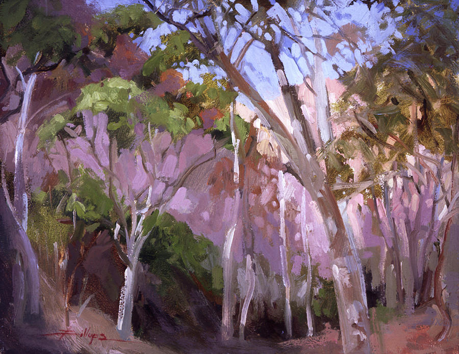 The Gum Grove Catalina Painting by Betty Jean Billups