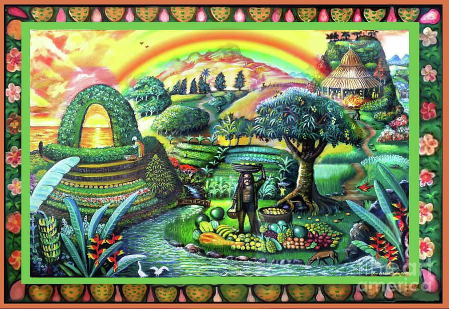 The Harvest Painting by Ras Jahaziel Tafari