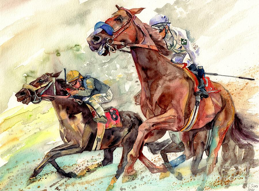 Horse Painting - The Heart Of A Champion by Suzann Sines