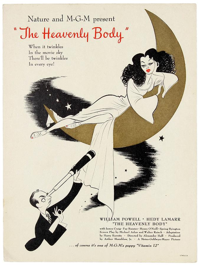 the Heavenly Body, With William Powell And Hedy Lamarr, 1944 Mixed Media