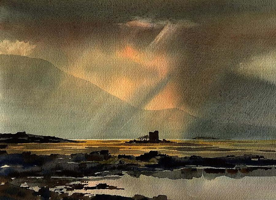 The Hens Castle, Maam Valley, Connemara. by Val Byrne