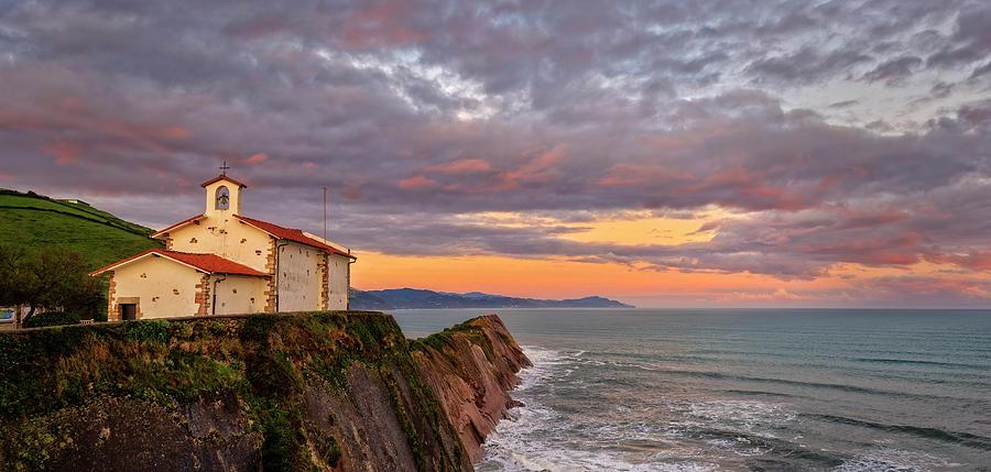 The Hermitage Of San Telmo At Dawn In Zumaya Photograph