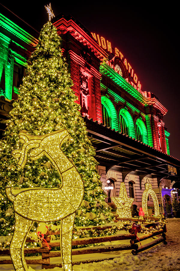 The Holiday Lighting of Union Station Denver by Teri Virbickis
