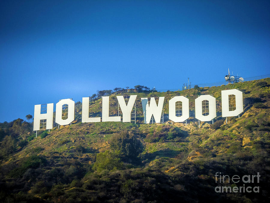The Hollywood Sign With Vignetting Photograph