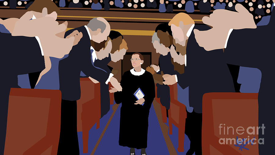 Ruth Bader Ginsburg Digital Art -  The Honorable R.B.G. by Isis Kenney