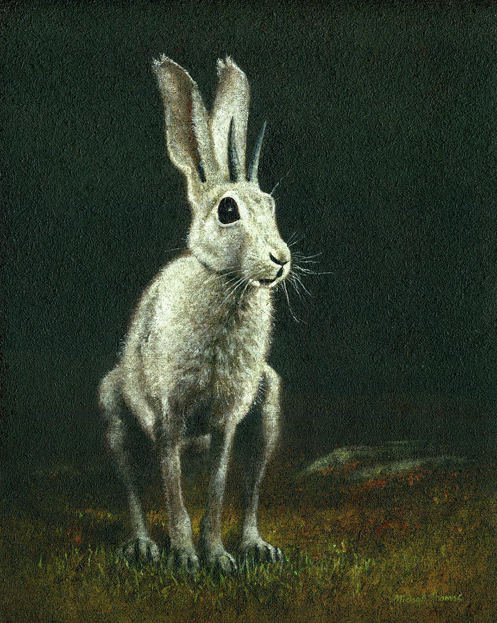 The Horned Hare Of Bodmin Moor Painting