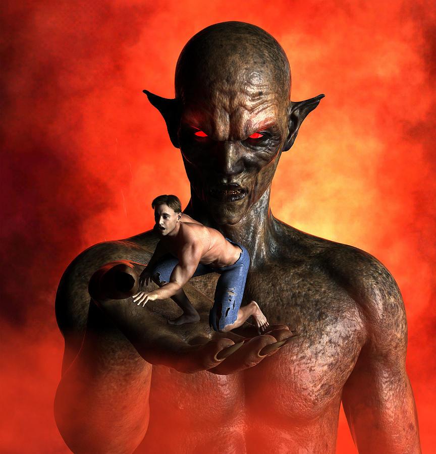 The Horror Of Demon Captivity Digital Art