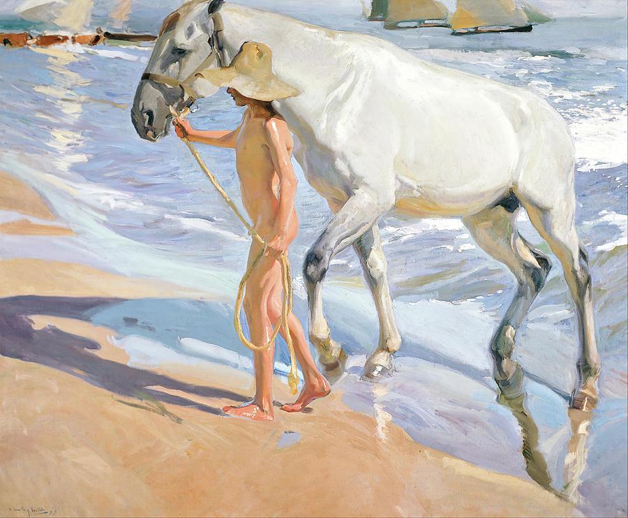 The Horses Bath Painting