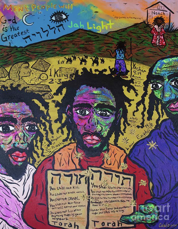 Acrylic Painting - The House of Noach  by Odalo Wasikhongo