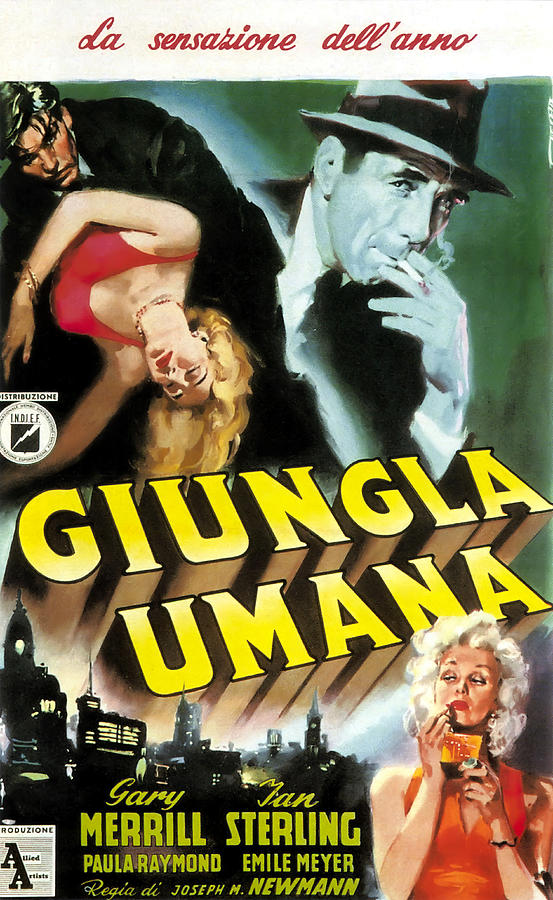 the Human Jungle, With Gary Merrill And Jan Sterling, 1954 Mixed Media