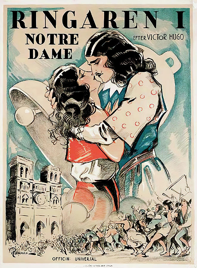 the Hunchback Of Notre Dame, 1923 Mixed Media