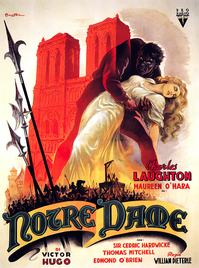 the Hunchback Of Notre Dame, 1939 Mixed Media