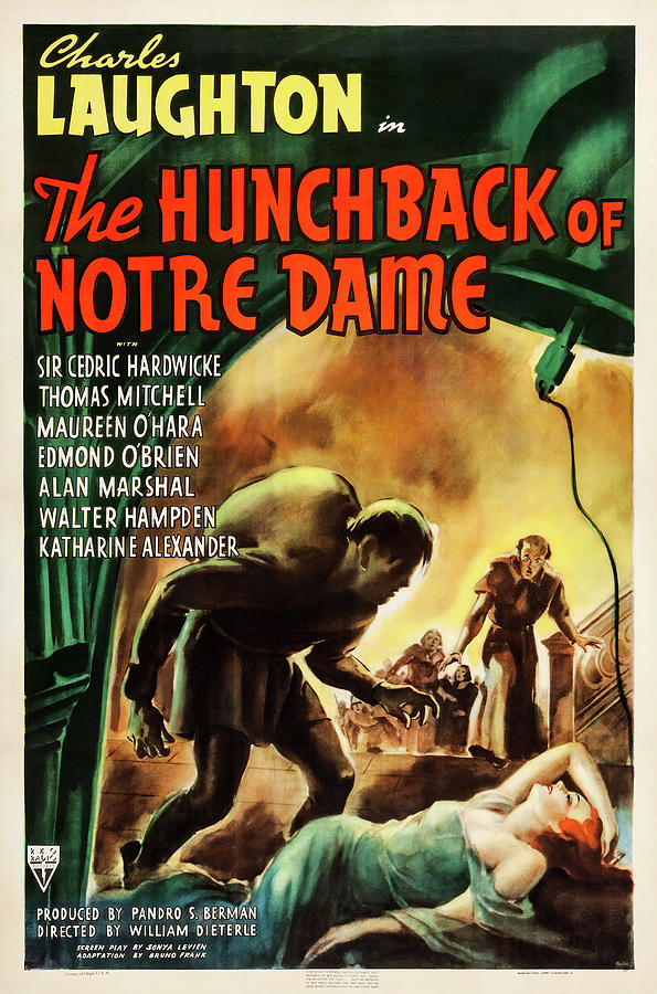 the Hunchback Of Notre Dame Movie Poster, 1939 Mixed Media