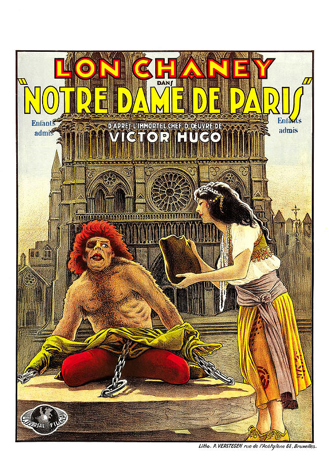 the Hunchback Of Notre Dame, With Lon Chaney, 1923 Mixed Media