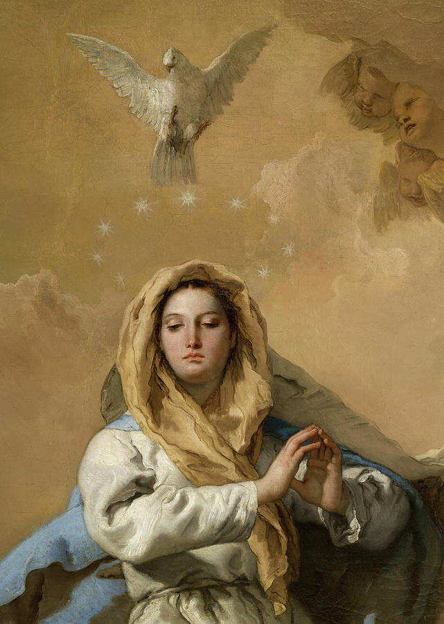 Giovanni Battista Tiepolo Painting - The Immaculate Conception, Detail No.2 by Giovanni BattistaTiepolo