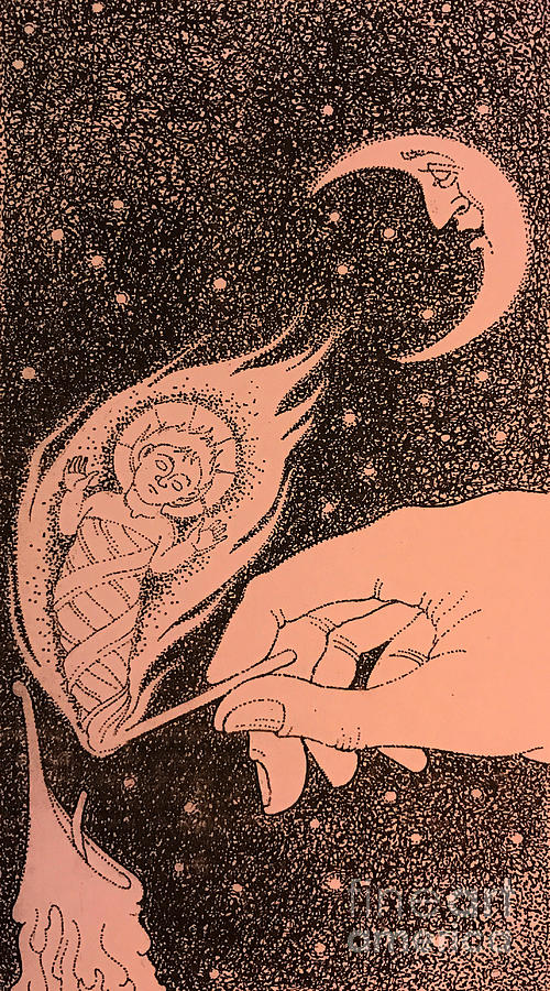 The Incarnation- Illustration Drawing by William Hart McNichols