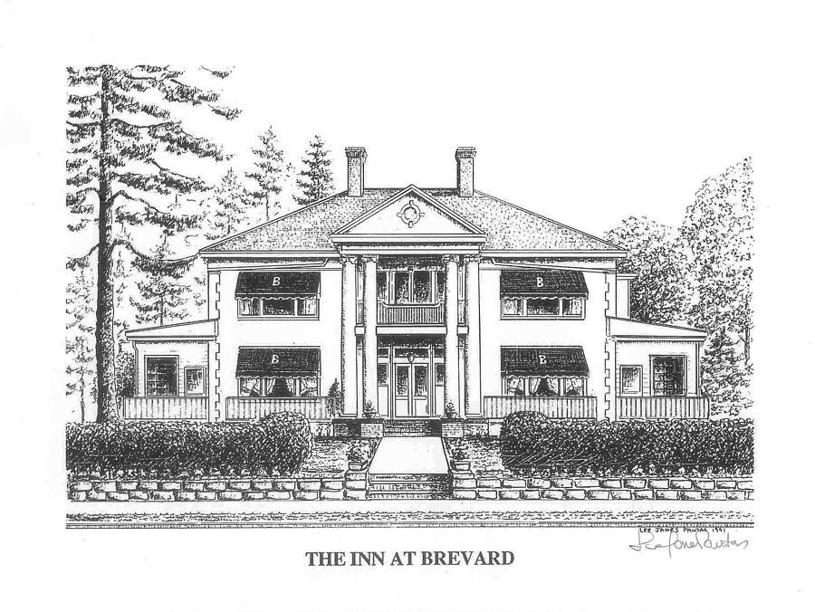 Brevard Glass Art - The Inn at Brevard by Lee Pantas