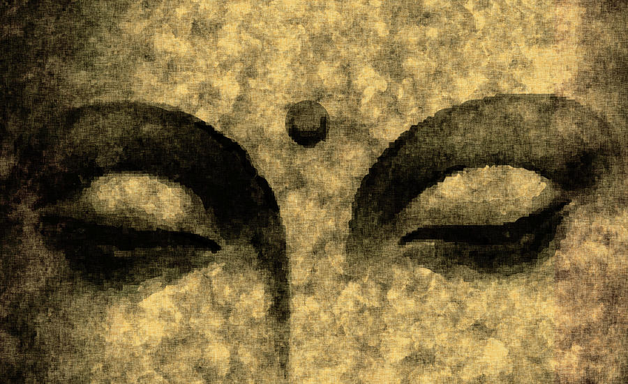The Inner Sky - Buddha In Meditation 01 Mixed Media