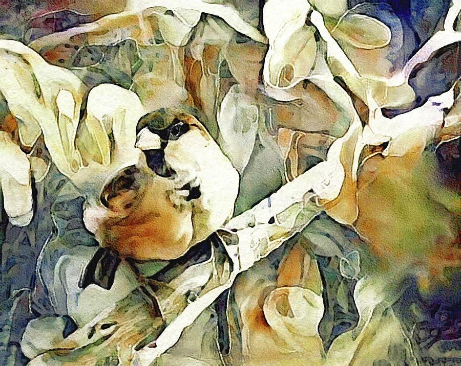 The Inquisitive Sparrow Digital Art