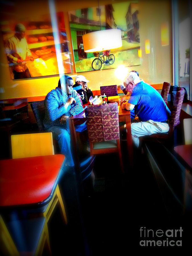 Documentary Photograph - The Interesting Thing About Dialogue by Frank J Casella
