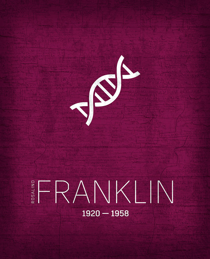 Inventors Mixed Media - The Inventors Series 055 Rosalind Franklin by Design Turnpike