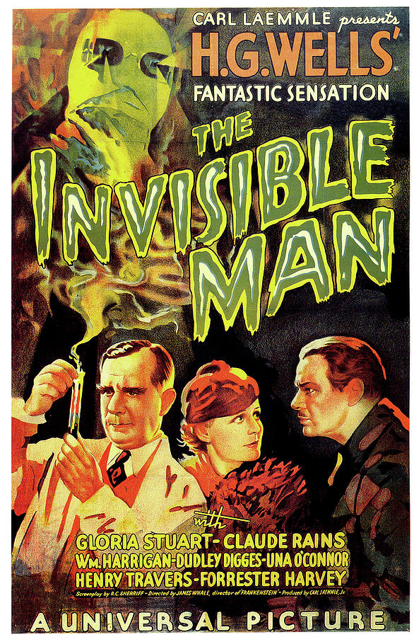 the Invisible Man Poster Mixed Media
