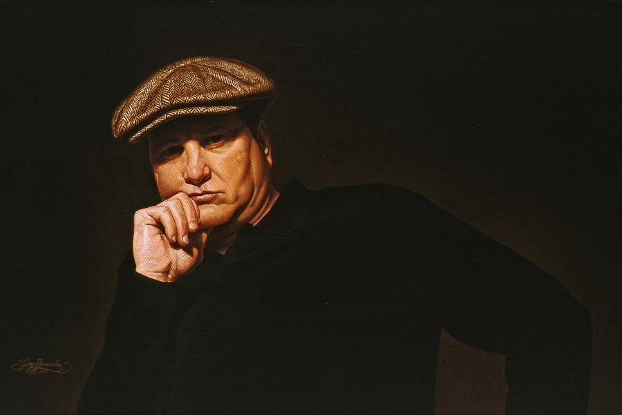 Portrait Painting - The Irishman by Gary  Hernandez
