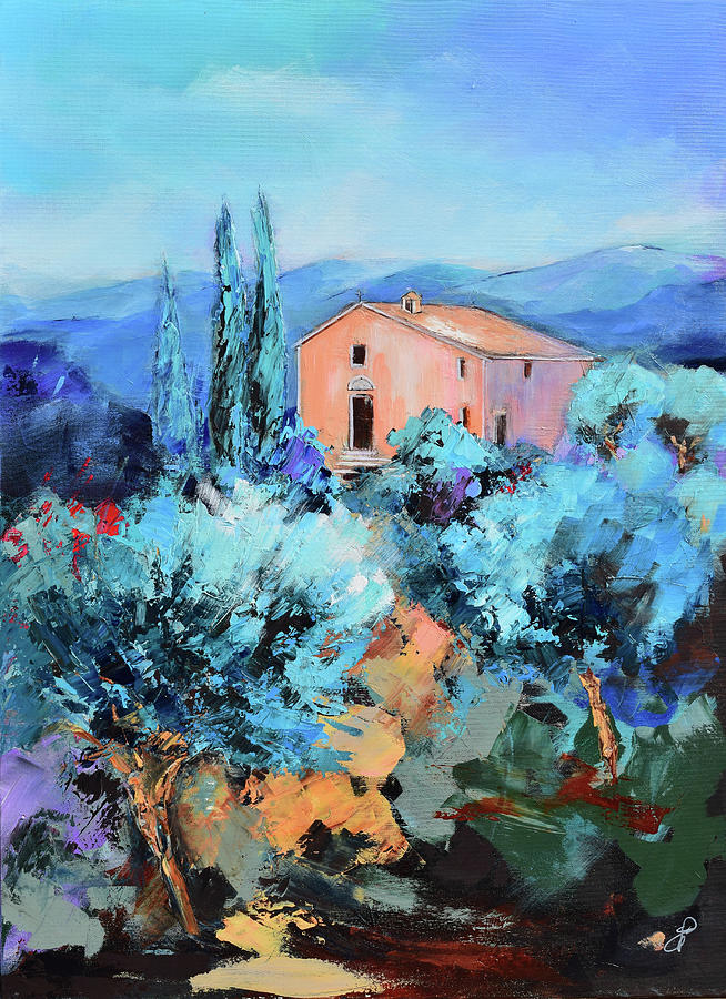 The Italian Chapel Among The Olive Trees Painting