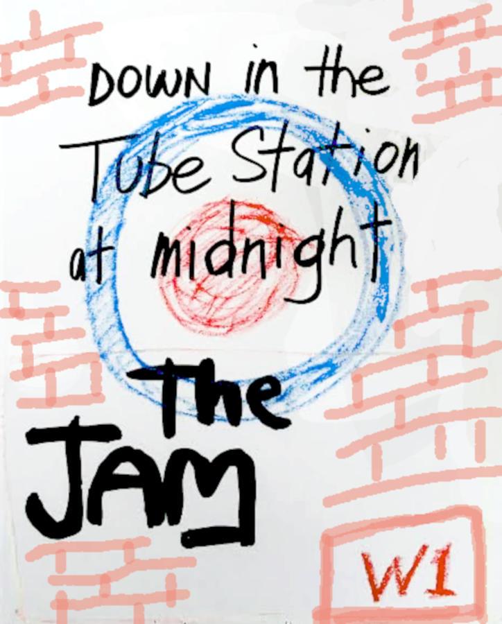 The Jam 1978 Pastel Drawing Pastel