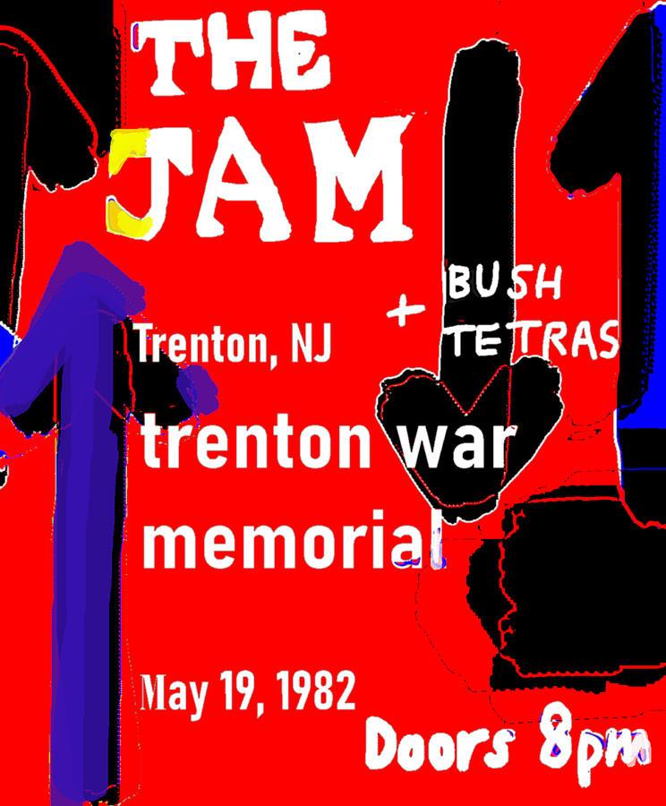 The Jam Gig poster N J 1982  by Enki Art