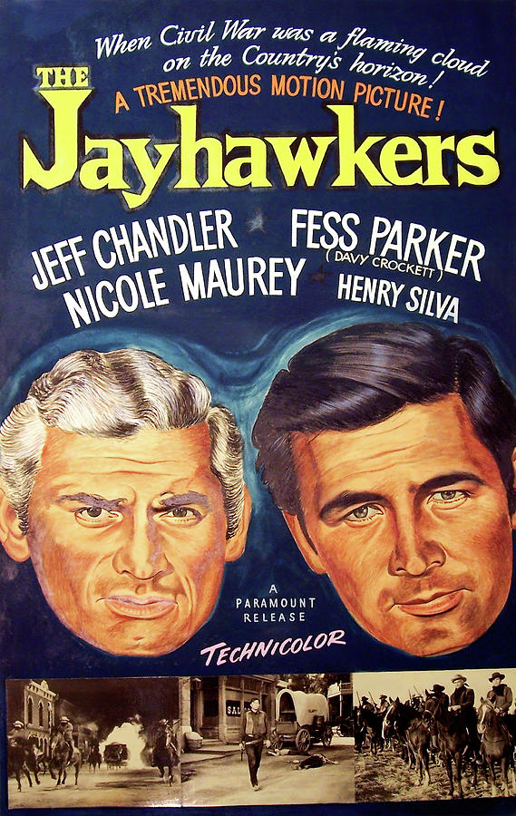 the Jayhawkers, With Jeff Chandler And Fess Parker, 1959 Mixed Media