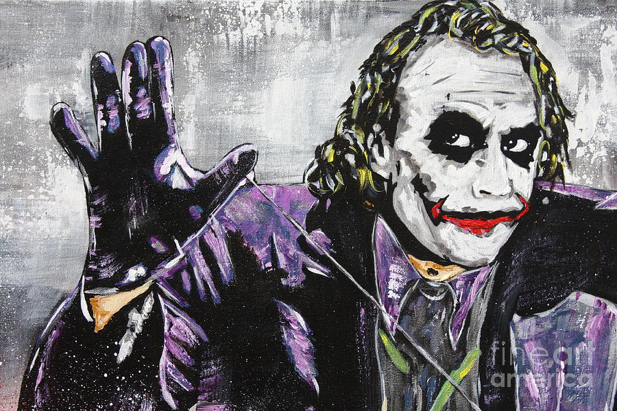 The Joker Face Painting Painting