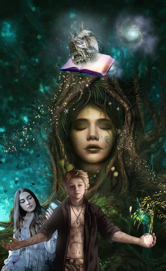 Fantasy Digital Art - The Journey by Laura Botsford