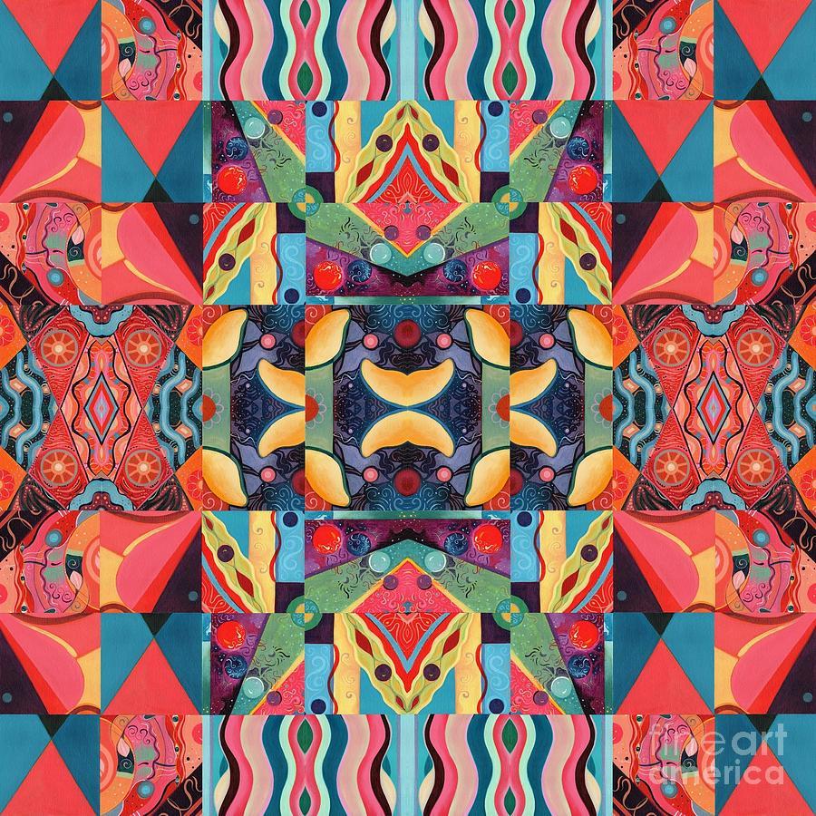 The Joy of Design Mandala Series Puzzle 8 Arrangement 1 by Helena Tiainen