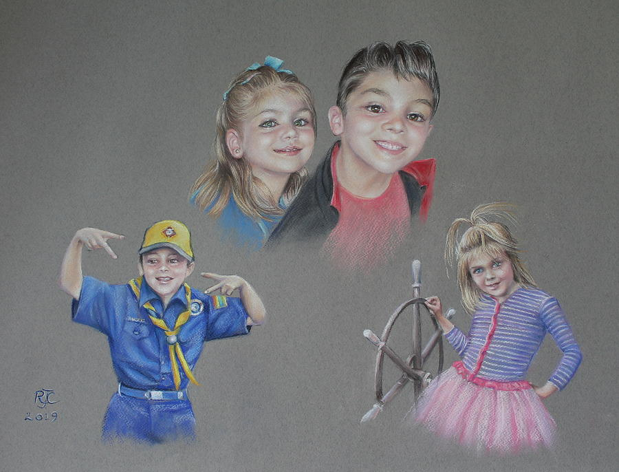 The Joy Of Grandchildren Pastel