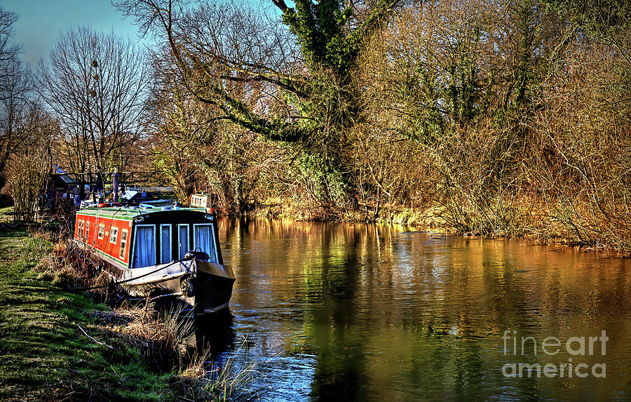 Berkshire Photograph - The Kennet In January Sunshine by Ian Lewis